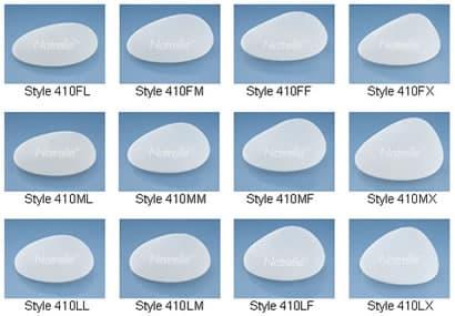 gammes de prothèse mammaire antomique