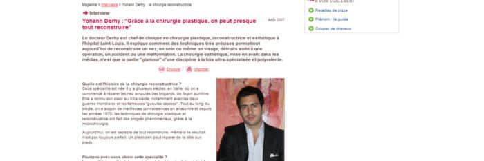 Article chirurgie plastique